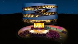 Open Air Kino - Mercedes Benz-Museum