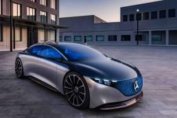Mercedes-Benz VISION EQS, IAA 2019, der VISION EQS zeigt einen Ausblick auf ein Konzept eines vollelektrischen Fahrzeugs der Luxusklasse.