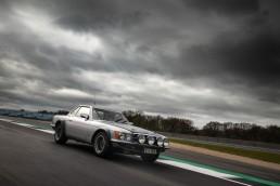 """Mercedes-Benz 500 SL Rallyefahrzeug (R 107) bei der Mercedes-Benz Classic Insight """"125 Years of Motorsport"""" in Silverstone (Großbritannien), 5. bis 6. April 2019."""