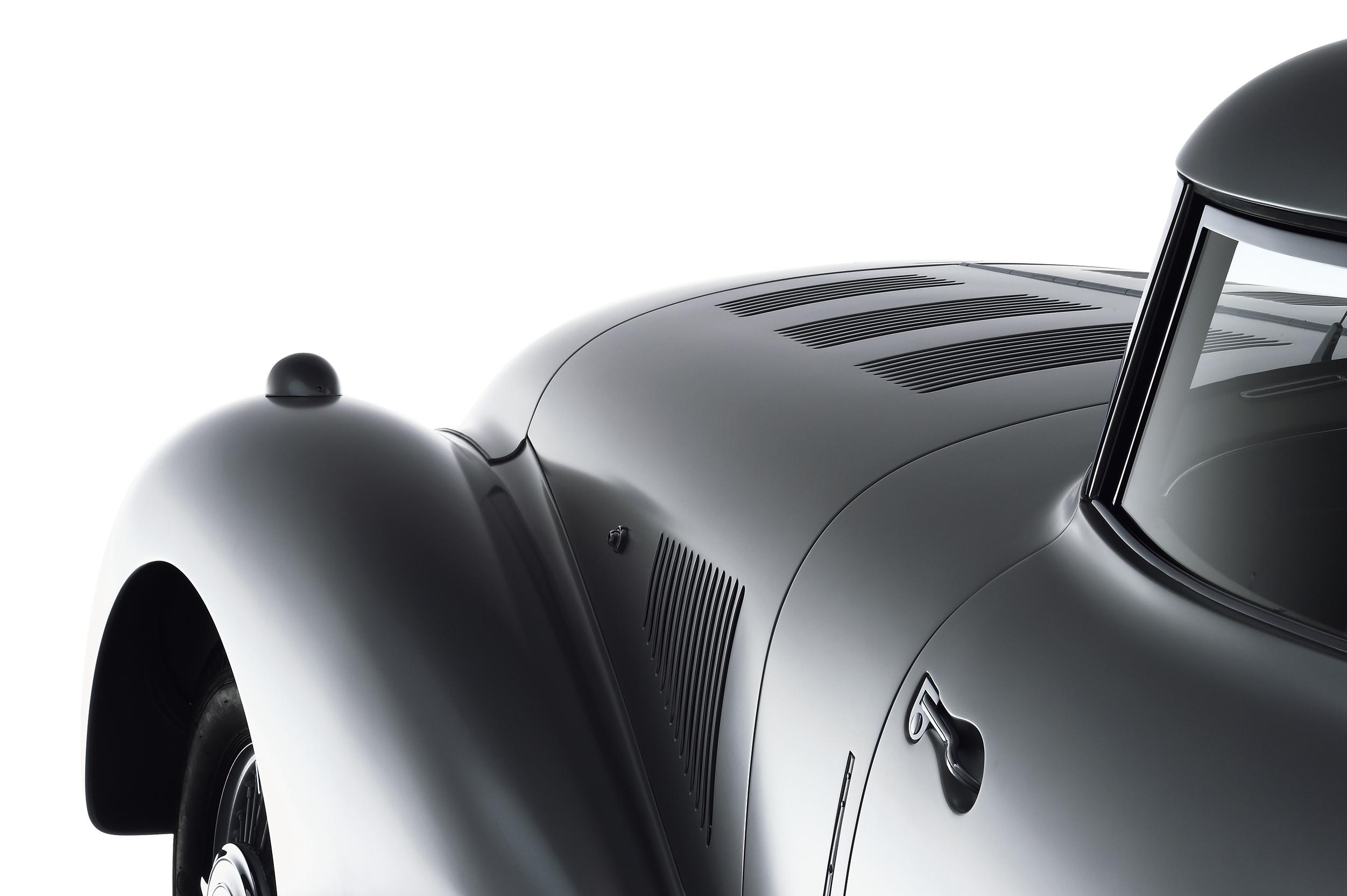 Ästhetik der Aerodynamik: Mercedes-Benz 540 K Stromlinienwagen von 1938.