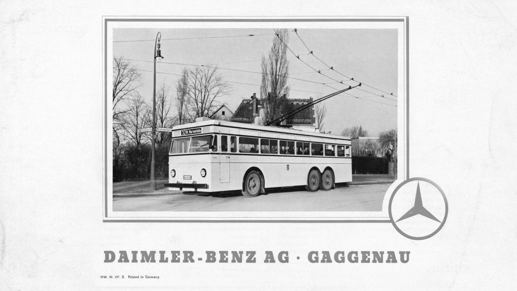 1937: Mercedes-Benz Oberleitungsomnibus Typ O 10 000.