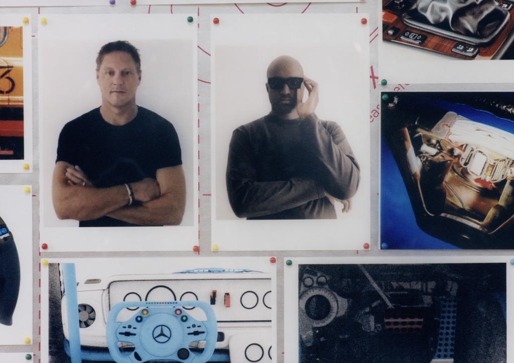 Mercedes-Benz Project Geländewagen. Im Bild links Gorden Wagener, Chief Design Officer Mercedes-Benz, rechts Virgil Abloh. Fotografiert von Bafic (Quelle: Daimler AG)