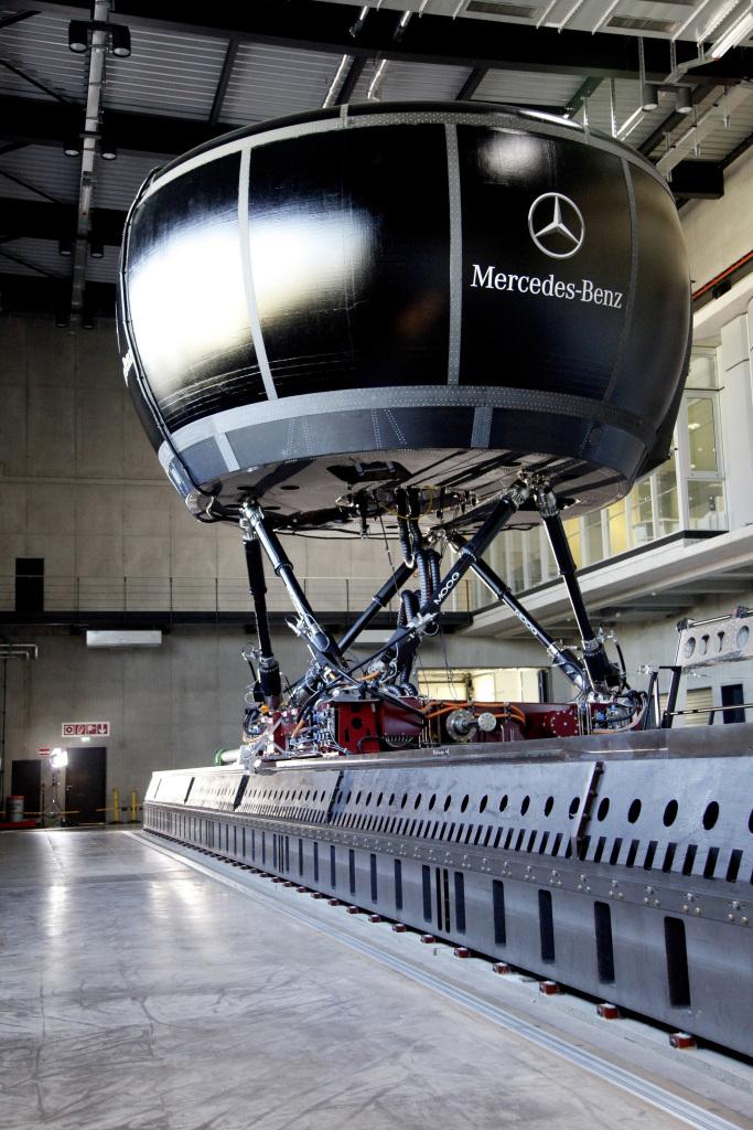 Fahrsimulator der Mercedes-Benz AG in Sindelfingen