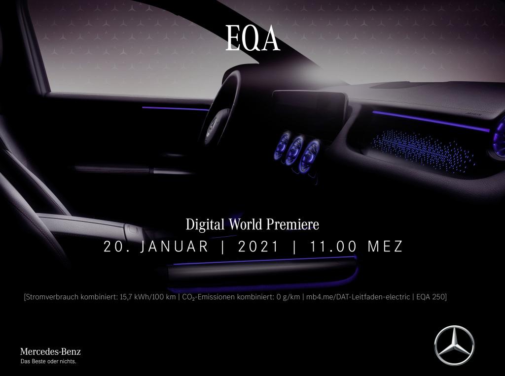 Digitale Weltpremiere des neuen EQA