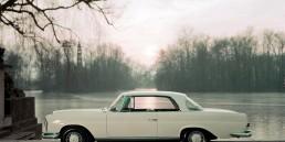 Mercedes-Benz 220 SE Coupé (W 111). Das Fahrzeug wird im Jahr 1961 auf dem Auto-Salon Genf der Öffentlichkeit präsentiert.