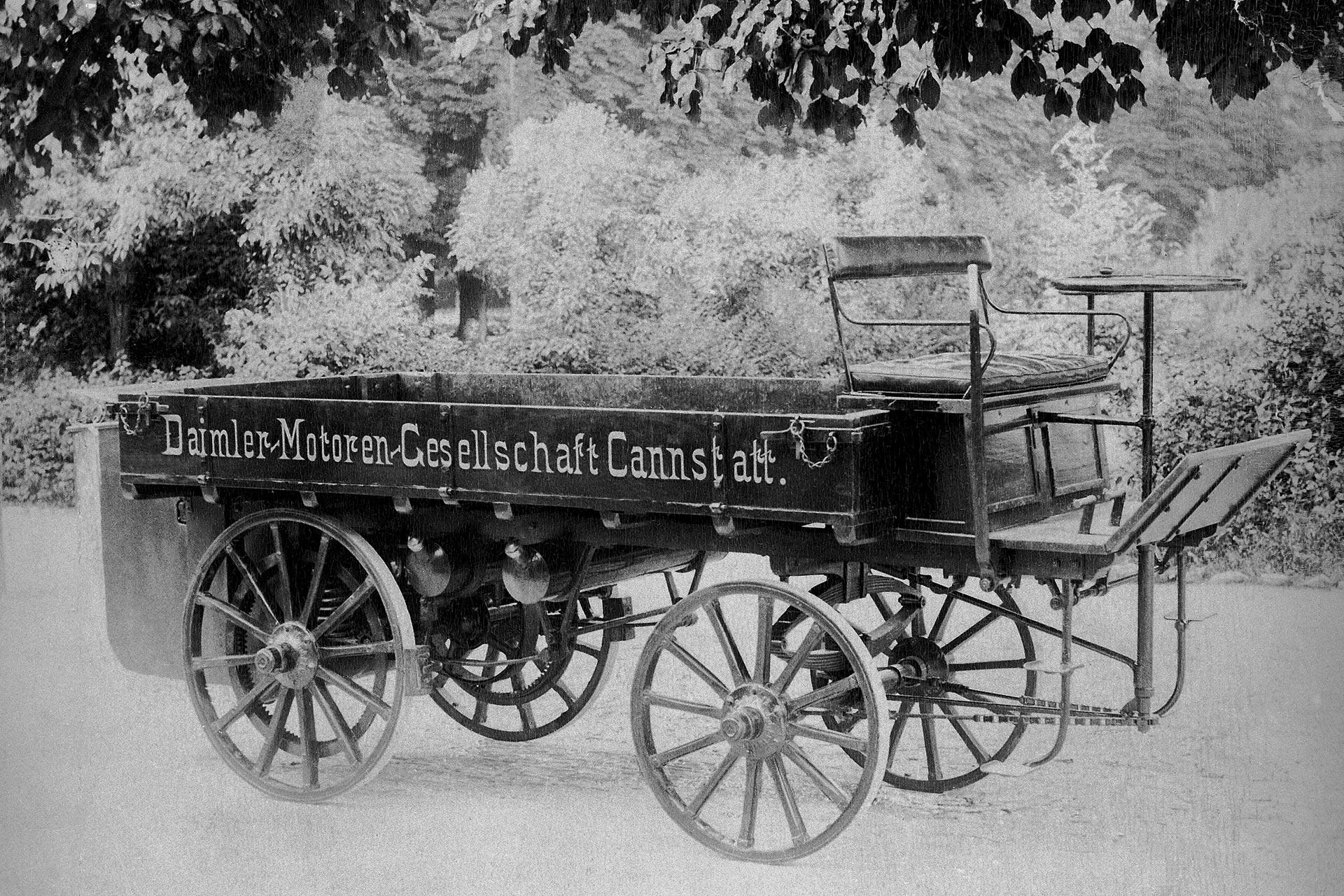 Der erste Daimler Lastwagen