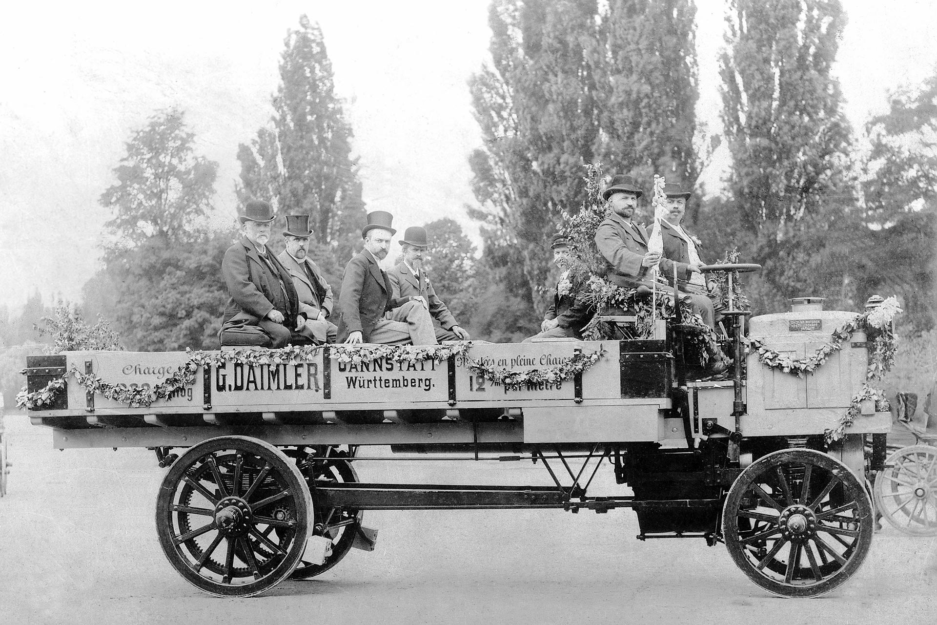 Daimler 5-Tonner auf der Weltausstellung Paris 1898