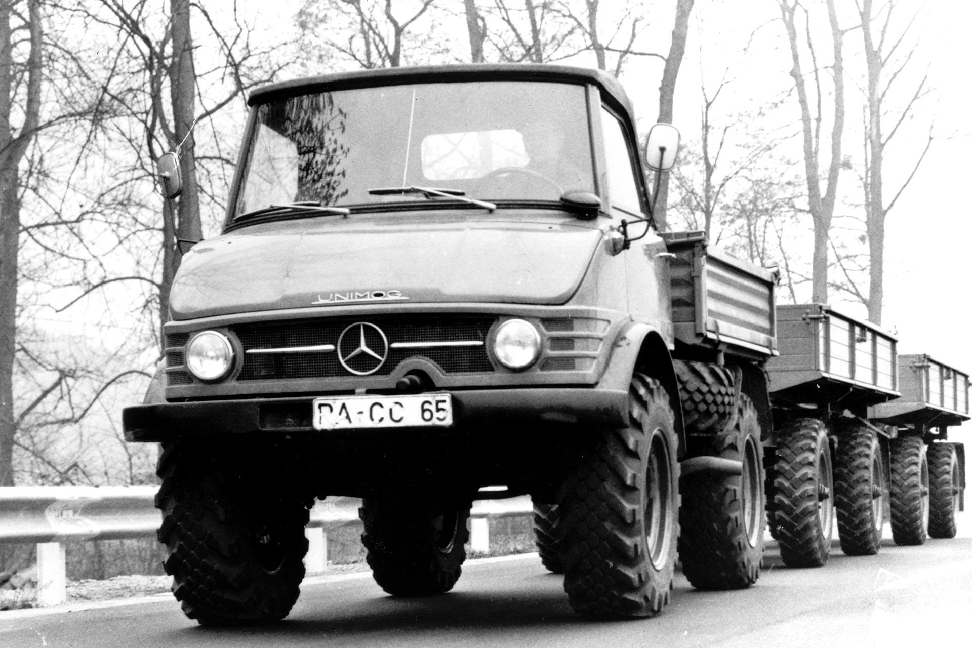 Unimog 65 PS (Baureihe 406, 1963-1966) - der größere Bruder des Unimog 32 PS