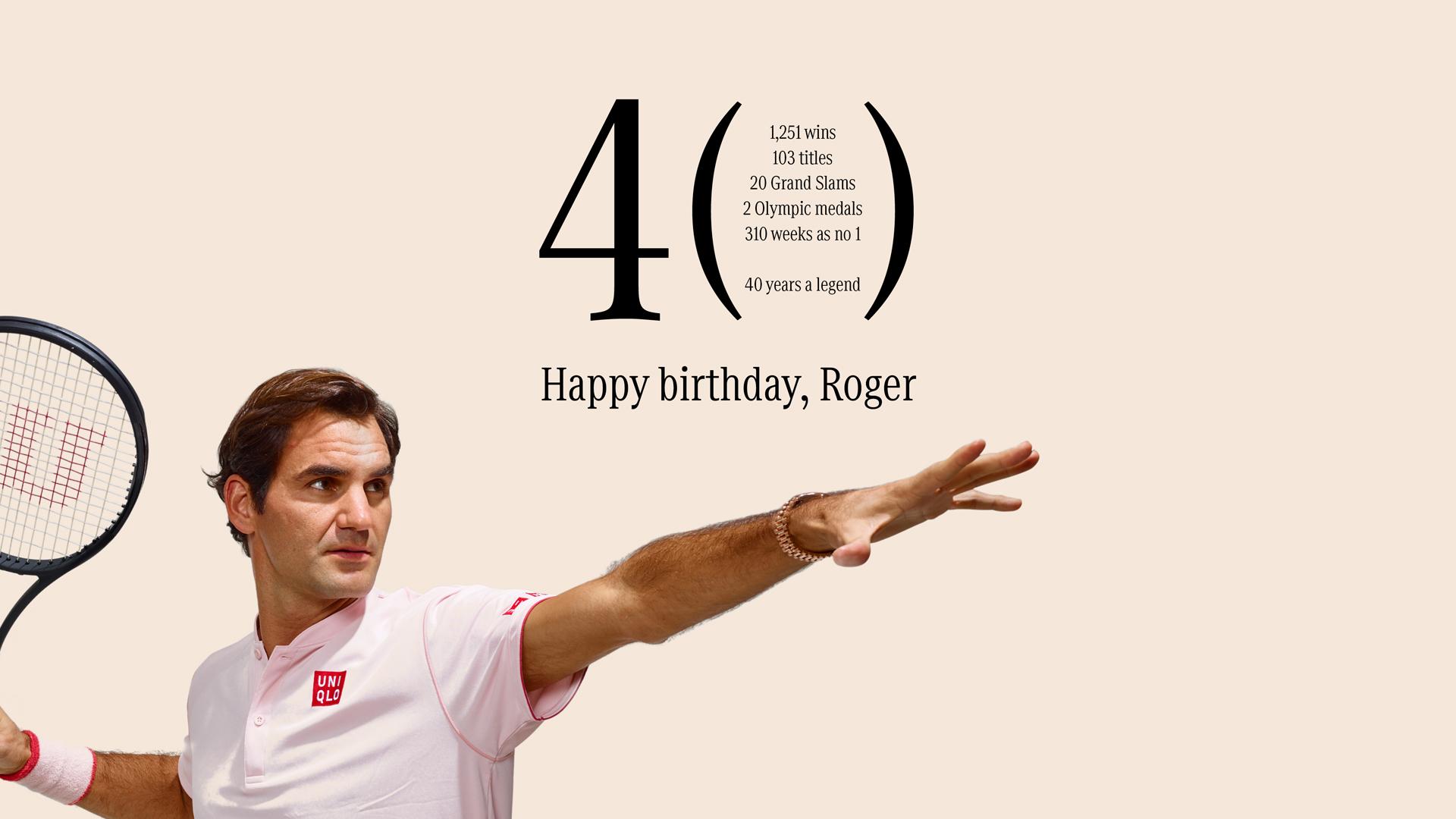 Happy Birthday, Roger Federer! Mercedes-Benz gratuliert seinem Markenbotschafter zum 40. Geburtstag.